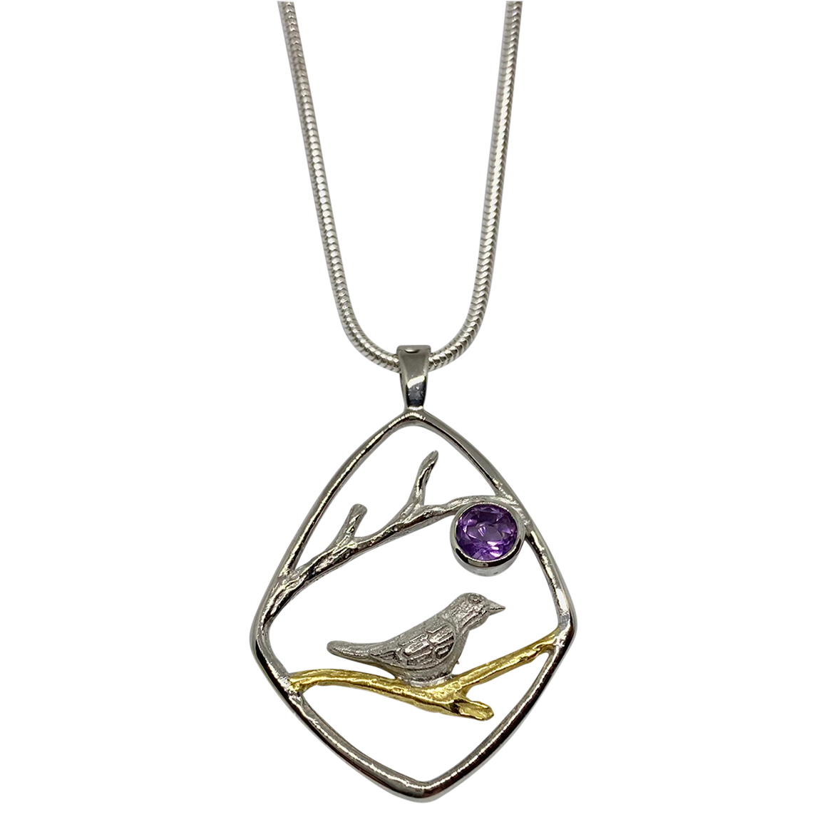 Gallardo & Blaine Bird and Amethyst Pendant