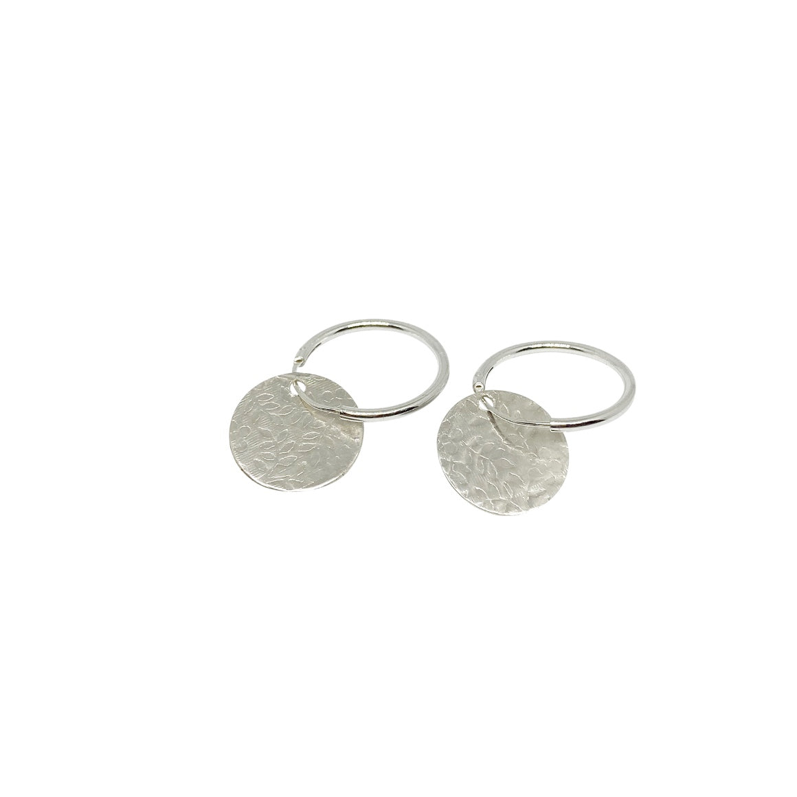 Ghost and Bonesetter- Silver Disc Earrings