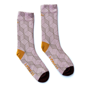 Irish Sock Society 'Feck It' Socks - Pink & Yellow