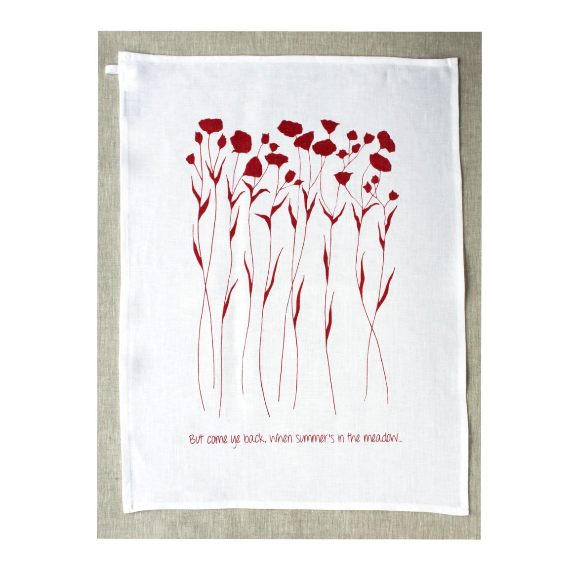 Jupiter Red Linen T Towel