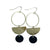 Kaiko Circle Half Moon Earrings