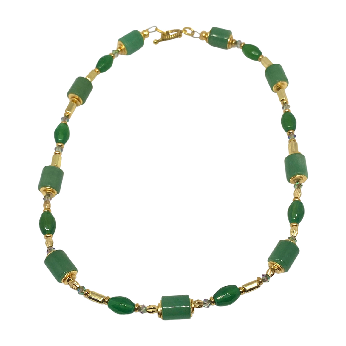 Kajoux Wilde Emerald Linear Necklace