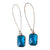 Kajoux Teal Deco Drop Earrings