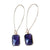 Kajoux Purple Deco Drop Earrings