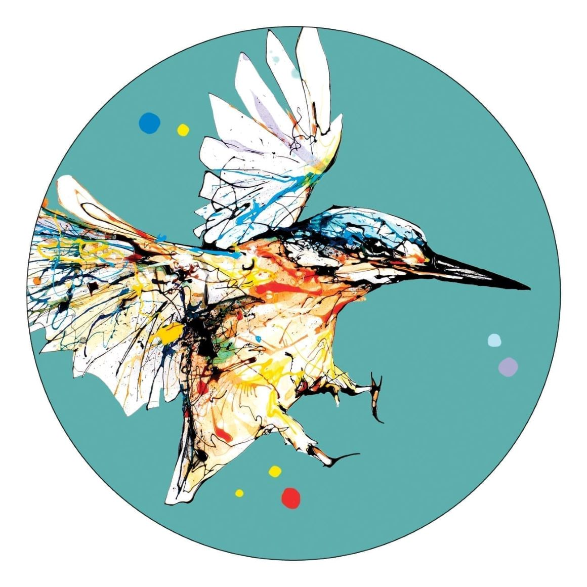 Kathryn Callaghan Kingfisher Coaster