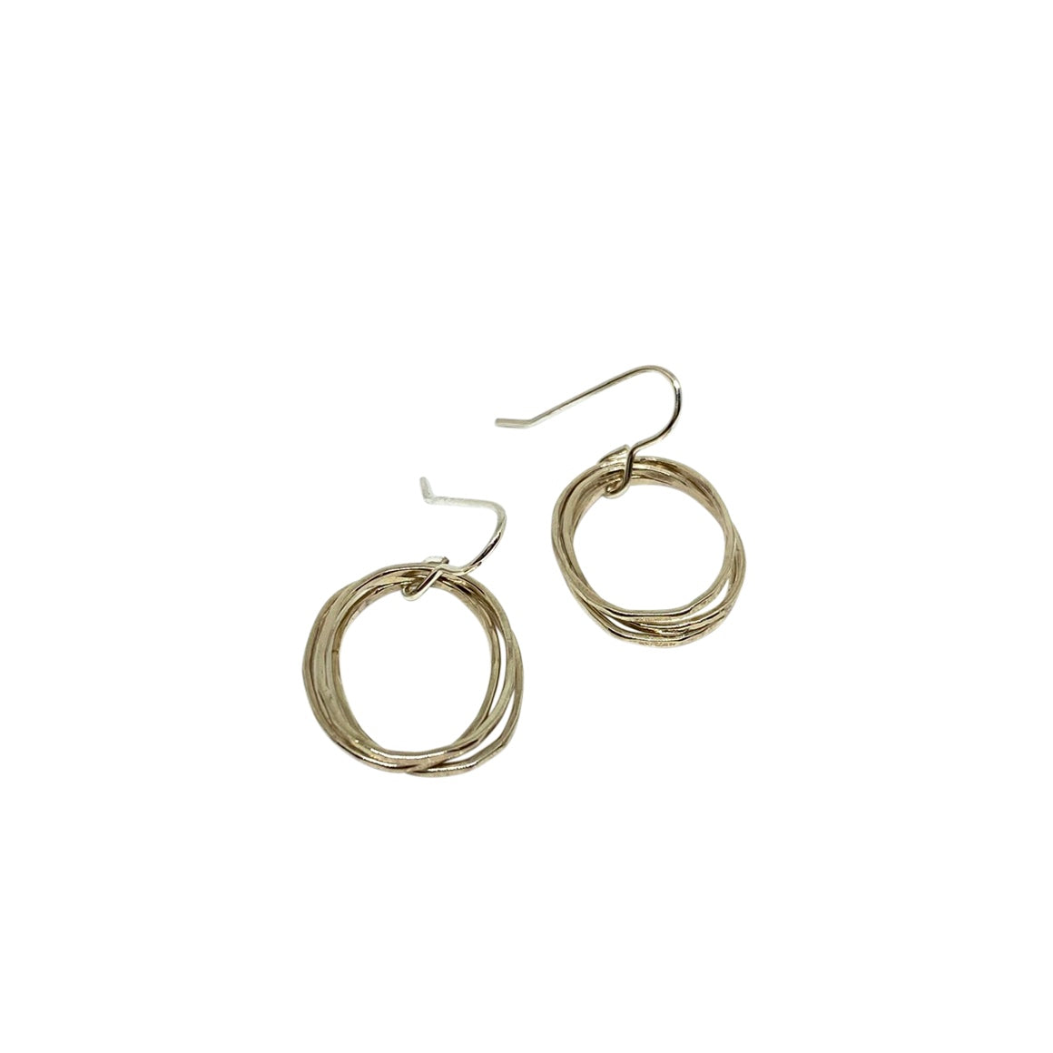 Lynsey de Burca Doorus Silver Drop Earrings