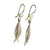 Martina Hamilton Pearl and Silver Leaf Earrings