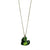 McGonigle Glass Heart Pendant - Green