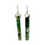 McGonigle Glass Pillar Earrings - Green