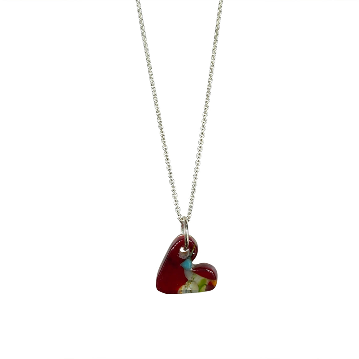 McGonigle Glass Heart Pendant - Red