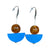 Sandia Drop Earring - Blue & Amber