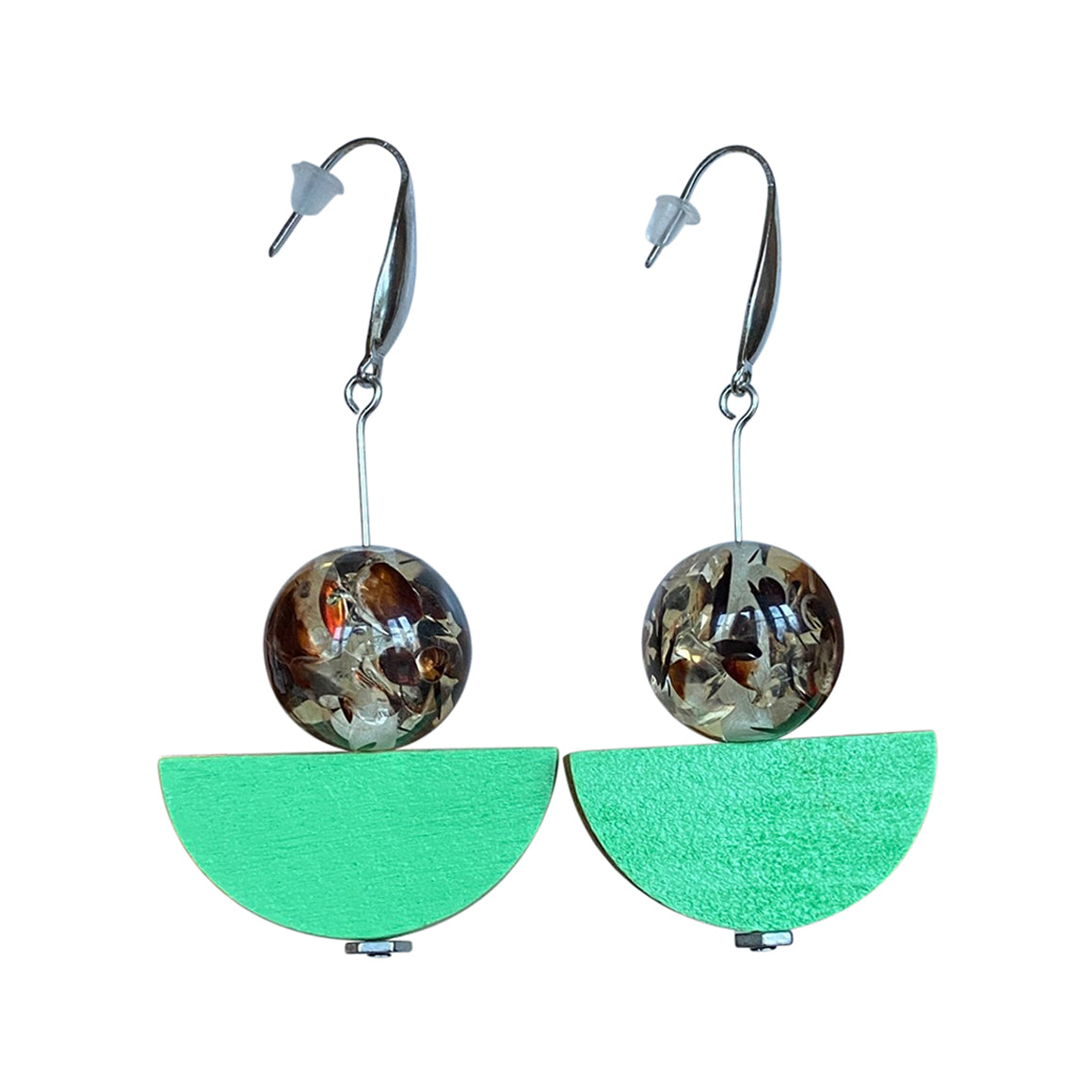 Sandia Half Moon Drop Earrings