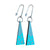 Sandia Triangle Drop Earring