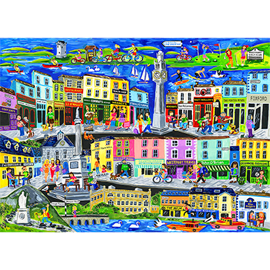 Simone Walsh 'Out And About In Westport' - Limited Edition Fine Art Print
