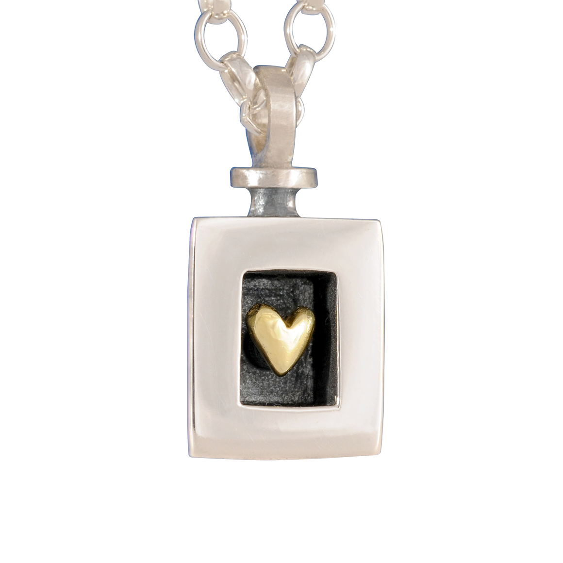 Alan Ardiff Heart of Gold 18kt and Silver Pendant