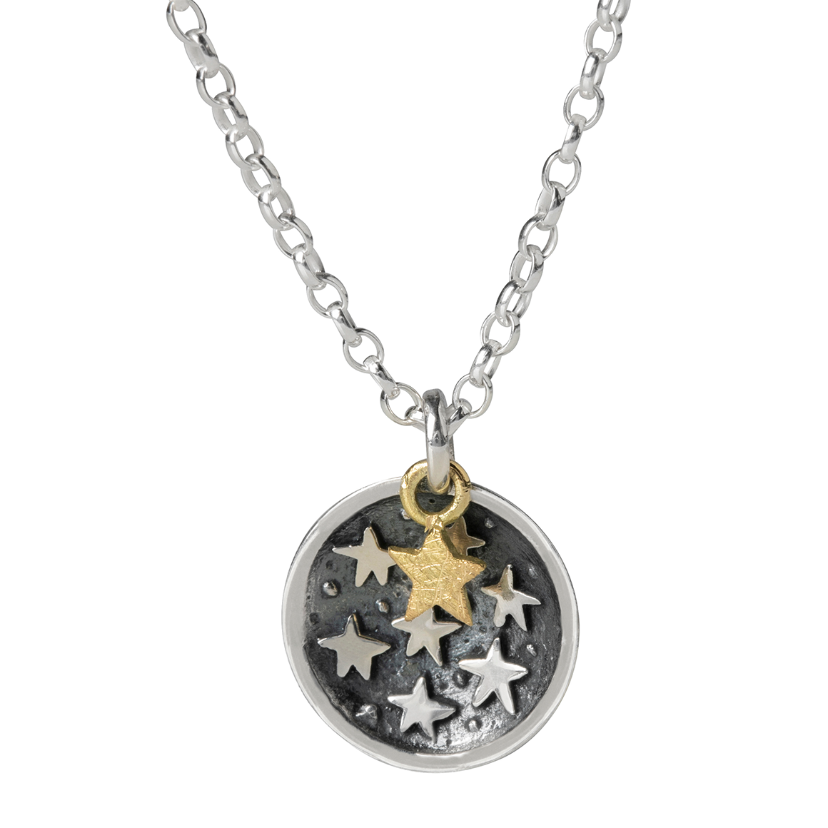 Alan Ardiff One In A Zillion Silver and Gold Star Pendant