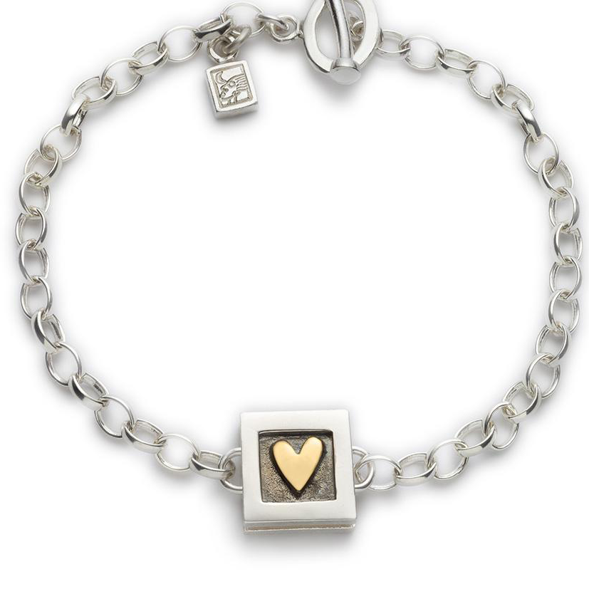 Alan Ardiff Heart of Gold Bracelet (Single Heart)