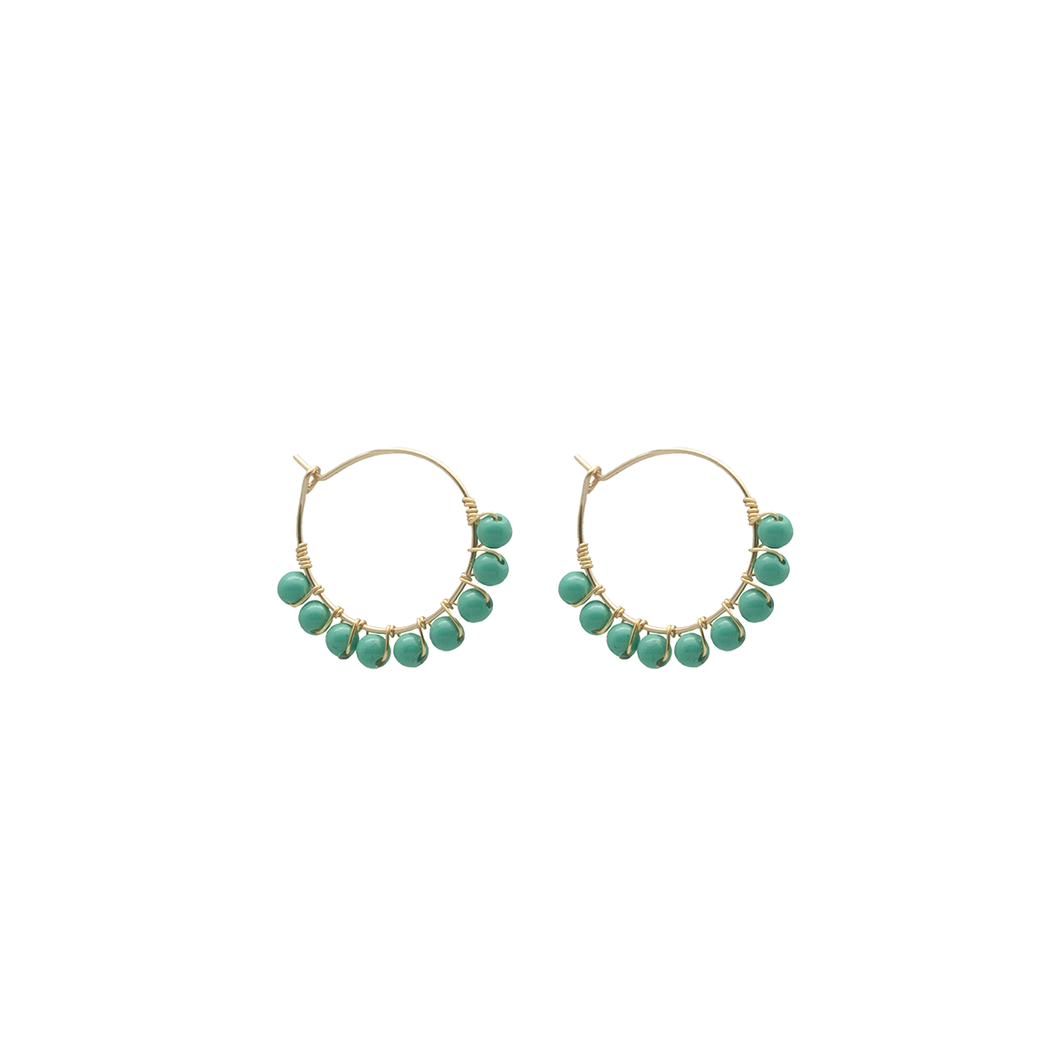 Vivien Walsh Beaded Mini Hoops