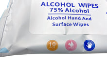 Load image into Gallery viewer, Alcohol Wipes - Travel Size - 3 Packs of 10 (30 Total) - 75% Alcohol