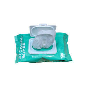 Alcohol Wipes - Pack of 80 - 75% Alcohol - Wet Wipes