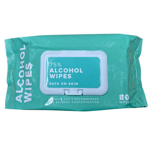 Alcohol Wipes - 10 Packs of 80 (800 Total) - 75% Alcohol - Wet Wipes