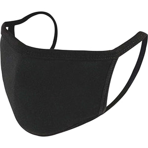 Adult Cloth Face Mask - 100% Cotton - Black - 50 Pack