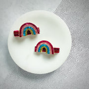 Rainbow Baby Pigtail Clips-TheBowsandtheBees