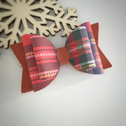 Riding Boots Plaid Bows