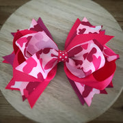 Camo Cutie Fancy Stacked Bow