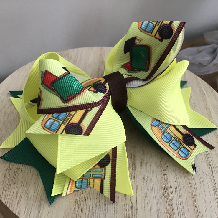 Back to School Fancy Stacked Bow