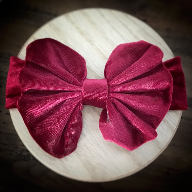 Messy Bow Velvet Headband Collection
