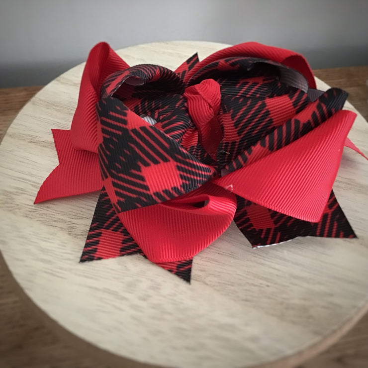 So Plaid Stacked Bow- 3 Varieties