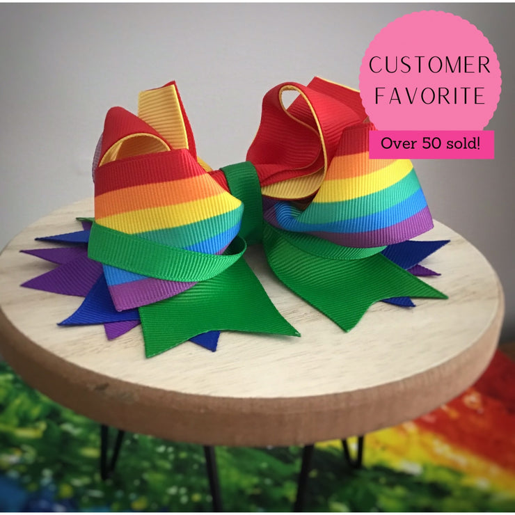 Over the Rainbow Fancy Stacked Bow