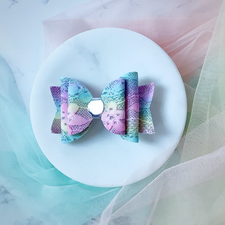 Rainbow Lace Bow