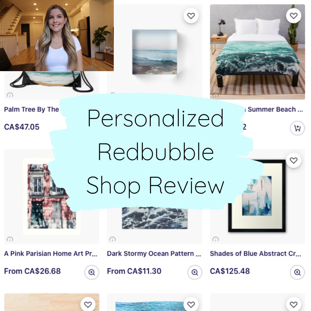 Personalized Redbubble Shop Review Video