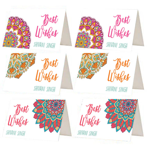 Mandala Pattern Best Wishes Gift Tags - Set of 12 or 24