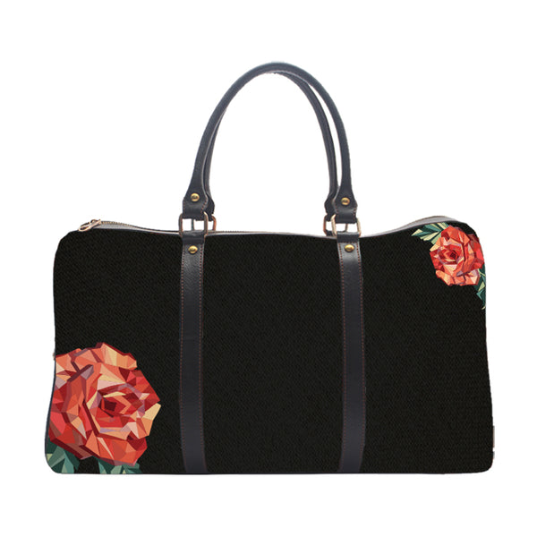 Black Rose Pattern - Duffle Bag