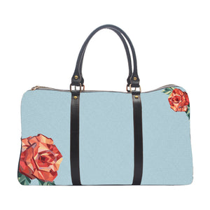 Sky Blue Rose Pattern - Duffle Bag