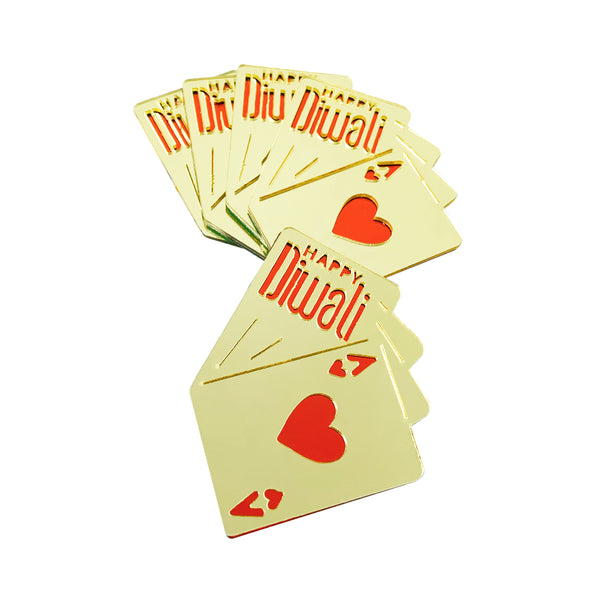 Playing Cards - Diwali Gift Tags (Set of 5)