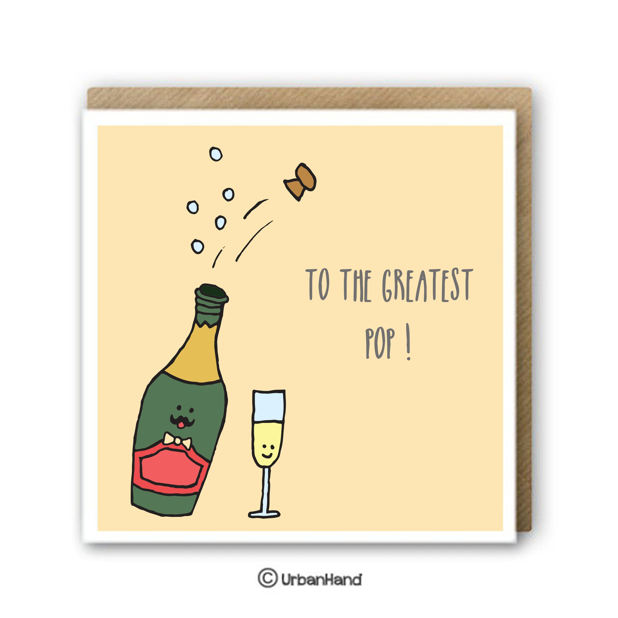 Champagne Dad - Greeting Card