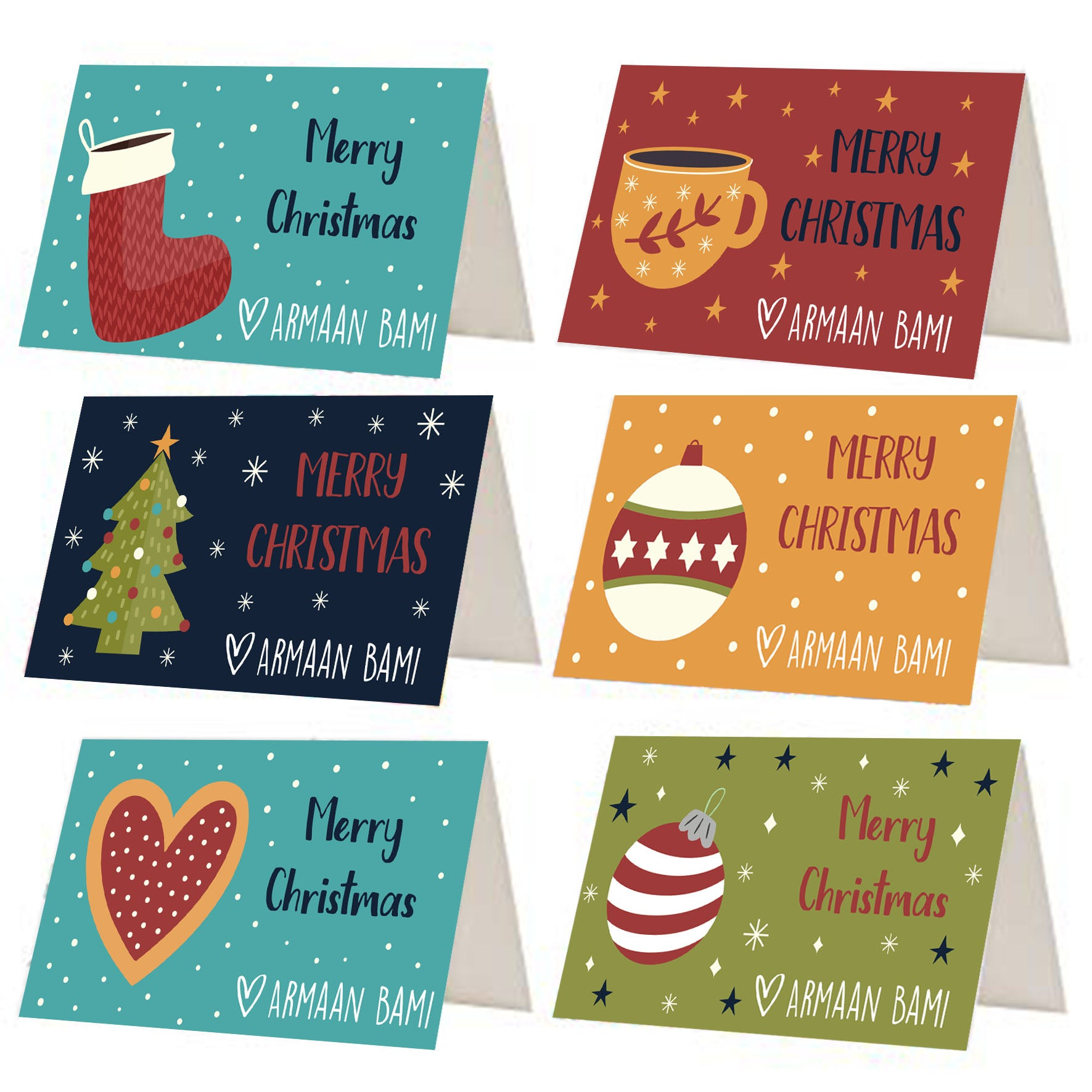 Multi Colour Christmas Gift Tags - Set of 12 or 24