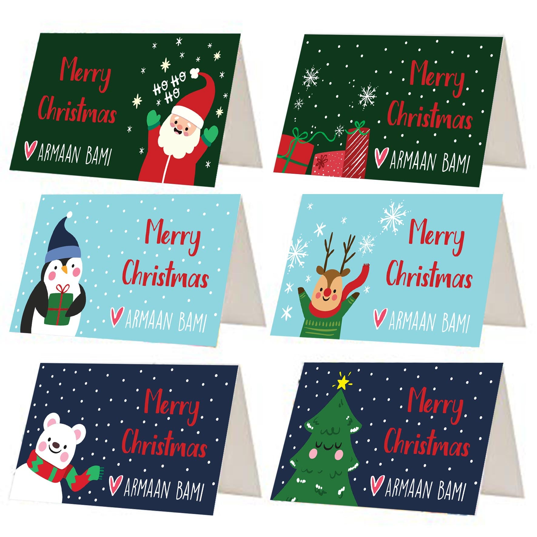 Colourful Christmas Gift Tags - Set of 12 or 24