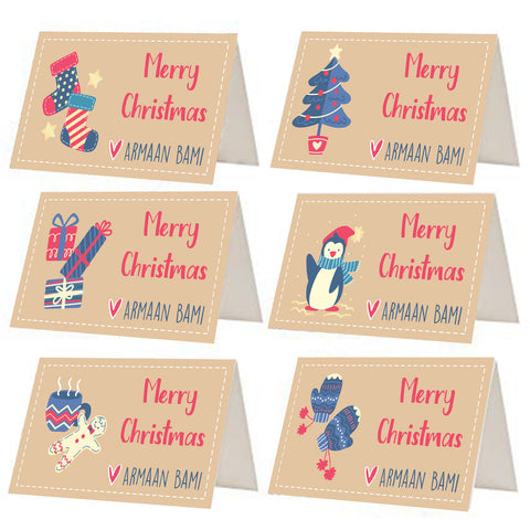 Neutral Christmas Gift Tags - Set of 12 or 24
