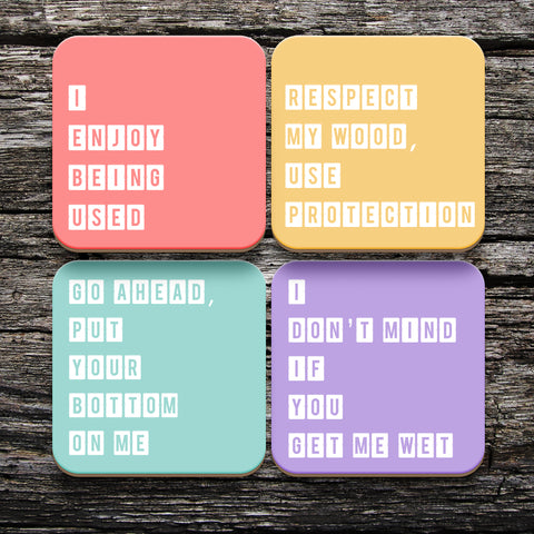 Dirty Coasters - Set of 4