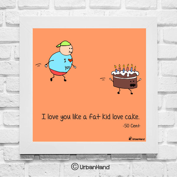 urbanhand wall art frame love cake