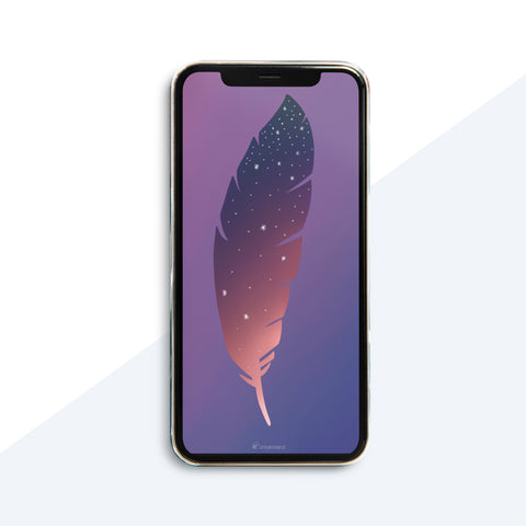 Feather Wallpaper - iPhone XS - Digital Download