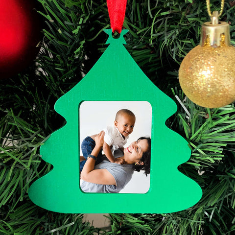 Photo Frame Christmas Ornament - Tree