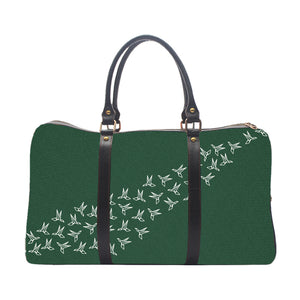 Crane Pattern - Green - Duffle Bag