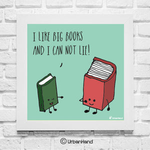 urbanhand big book love wall art frame