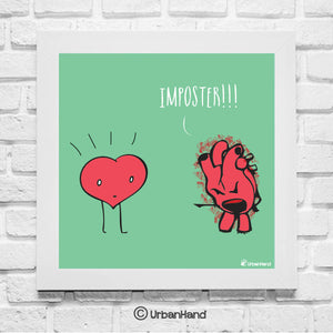 Imposter Heart - Wall Art